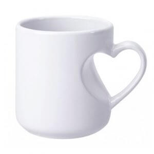 Heart Handle Inside Cut Mug